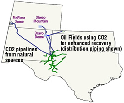 co2 pipeline map